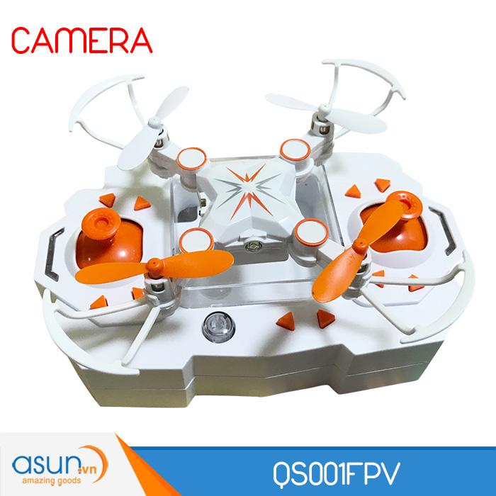 Máy Bay Điều Khiển UFO 4 Cánh Mini QS001 Camera Wifi FPV