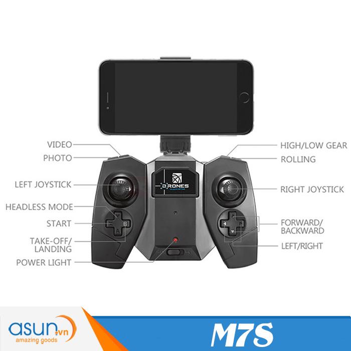 Máy Bay Điều Khiển Từ Xa Visuo Smao M7S Camera Wifi