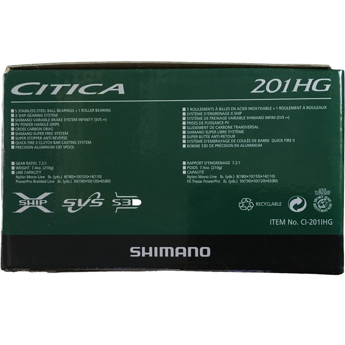 Máy Câu Ngang Shimano Citica 201 HGTay Quay Trái BH 1 Năm