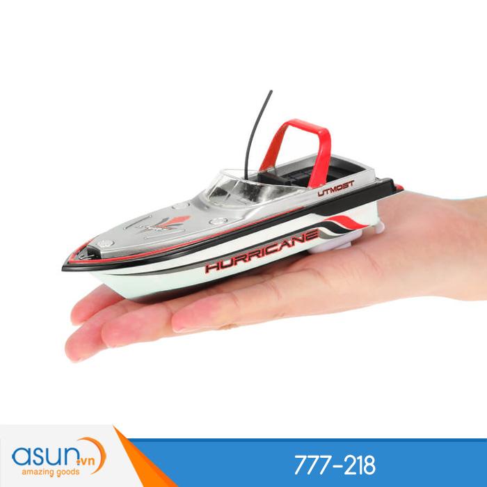 Tàu Cano Điều Khiển Từ Xa Mini Boat 777-218 Đỏ