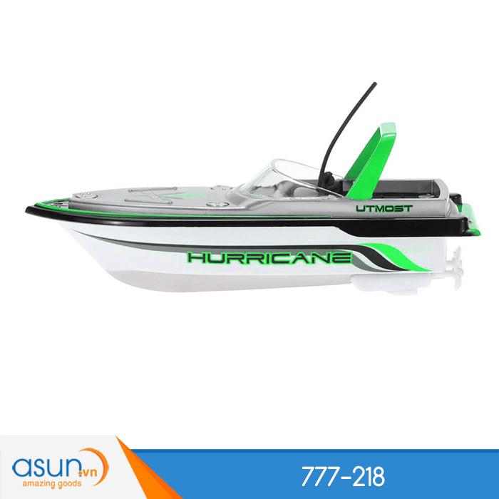 Tàu Cano Điều Khiển Từ Xa Mini Boat 777-218 Xanh Lá