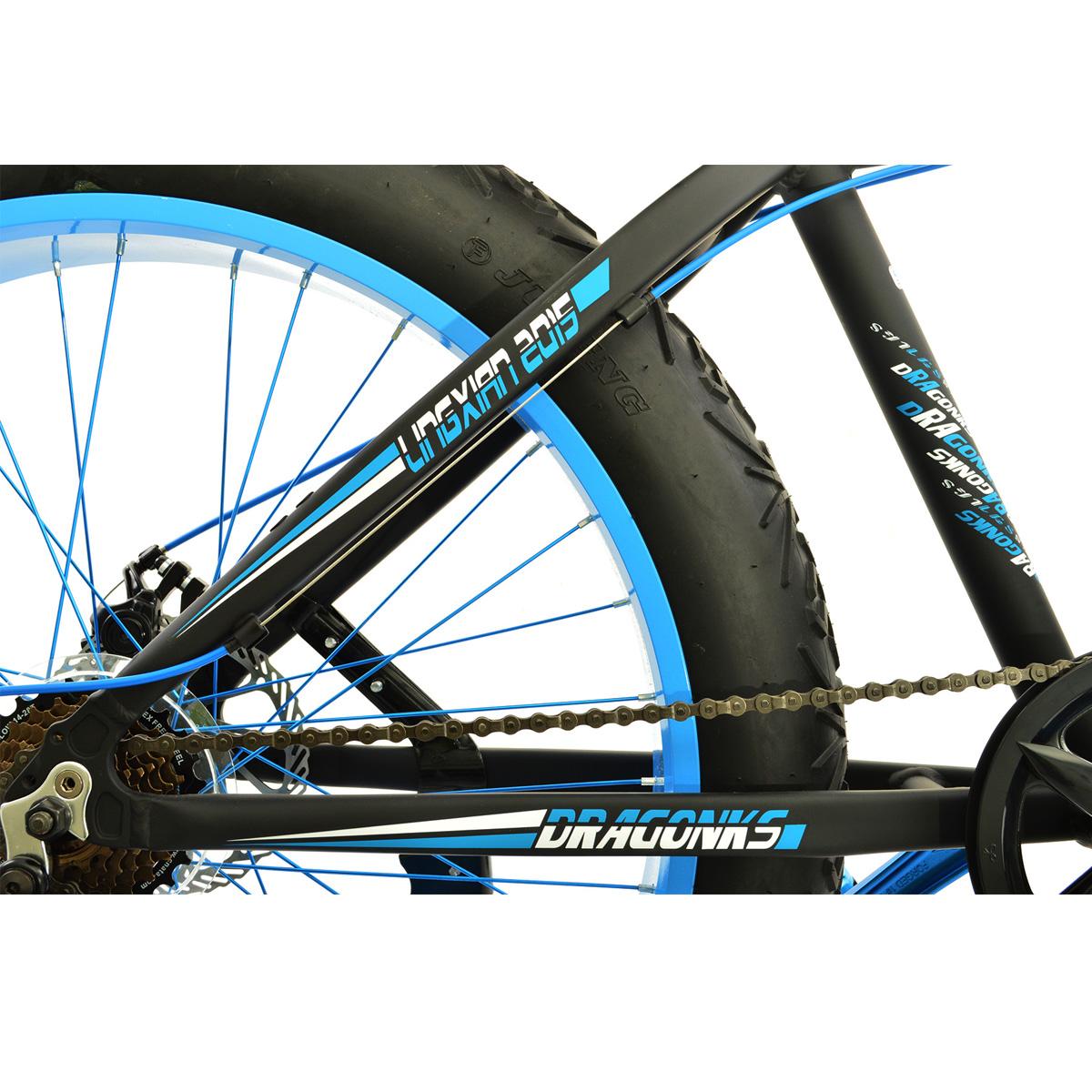 Xe Fatbike bánh xe 26 BOB02606-FAT màu đen-xanh dương