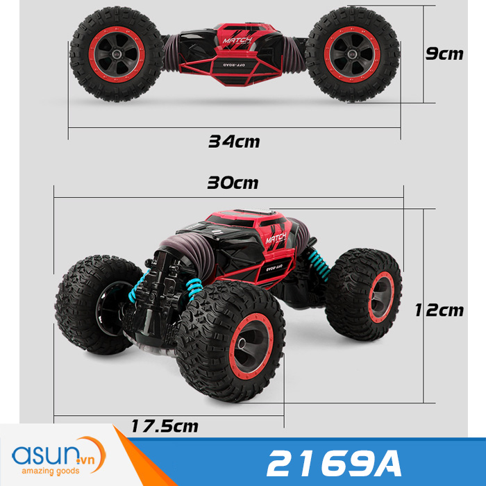 Xe Điều Khiển Địa Hình 4WD 2 Chế Độ Cực Khỏe 2169A Đỏ