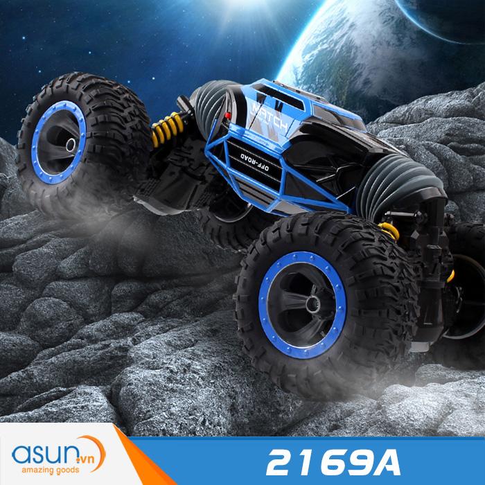 Xe Điều Khiển Địa Hình 4WD 2 Chế Độ Cực Khỏe 2169A Xanh