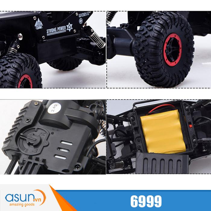 Xe  Điều Khiển Địa Hình Rock Crawler 6999 4WD Rally Car Vỏ Nhôm