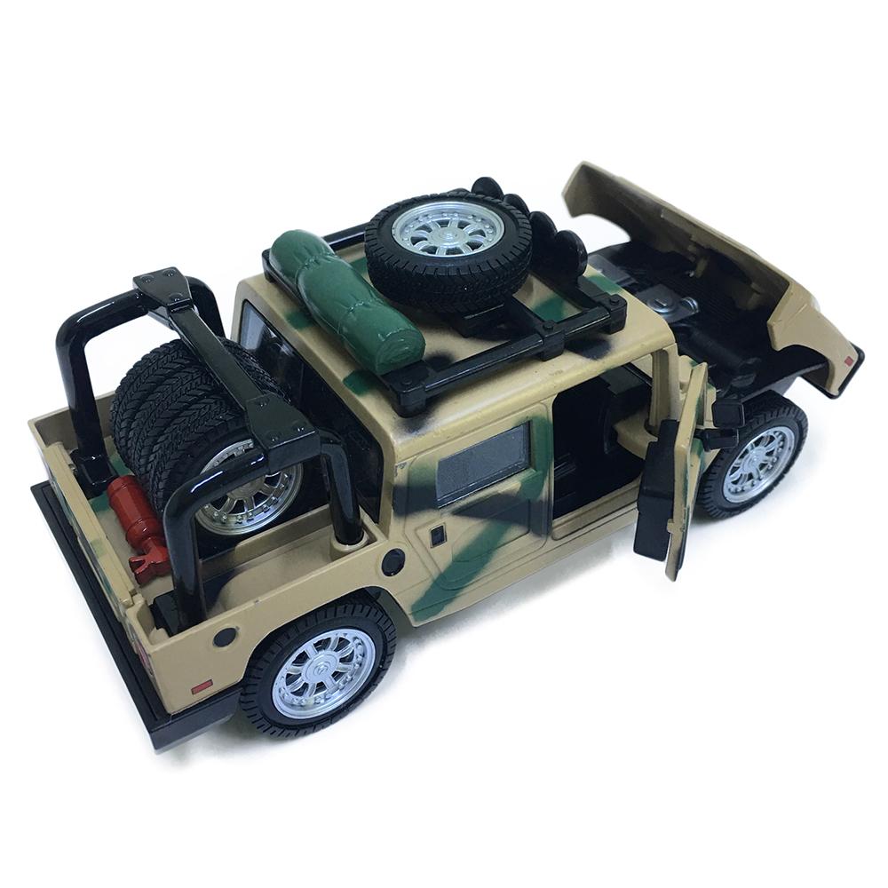 Xe Hummer Bằng Sắt Chạy Dây Cót 53126 Đóng Mở Cửa Có Đèn Nhạc