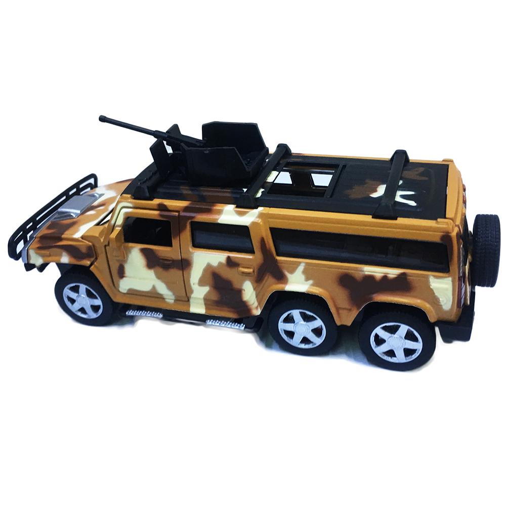 Xe Jeep Quân Đội Chạy Dây Cót Bằng Sắt 6808 Đóng Mở Cửa Có Đèn Nhạc