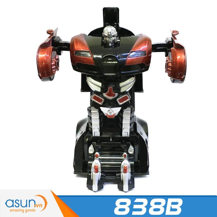 Xe Mô Hình Chạy Dây Cót Bằng Sắt Bugatti Biến Hình Transformer 838B Có Âm Thanh