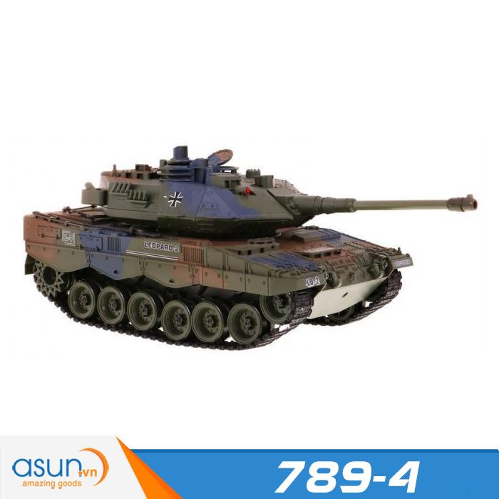 Xe Tank Điều Khiển Từ Xa Bắn Đạn và Có Khói 2.4Ghz Leopard 2 Mã 789-4 1:18