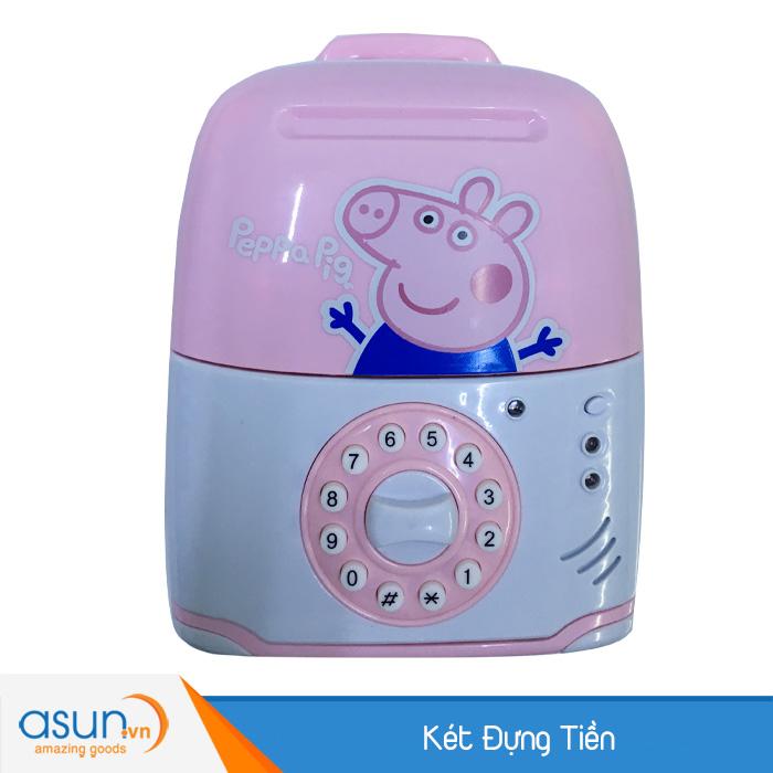 Két Đựng Tiền Mini Vali Hình Peppa Pig