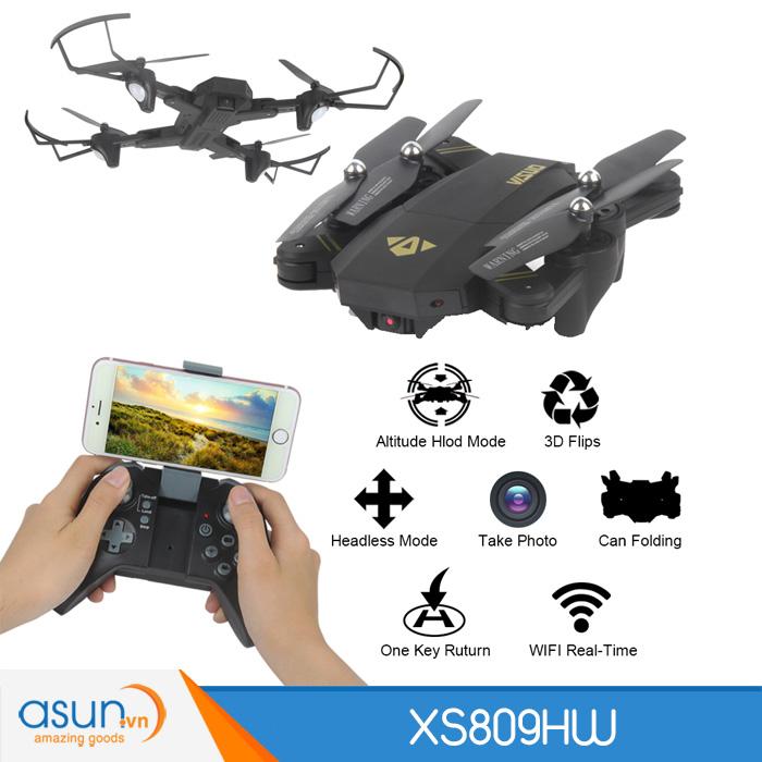 Máy Bay Điều Khiển Gấp Cánh XS809HW Visuo Quadcopter Wifi Camera