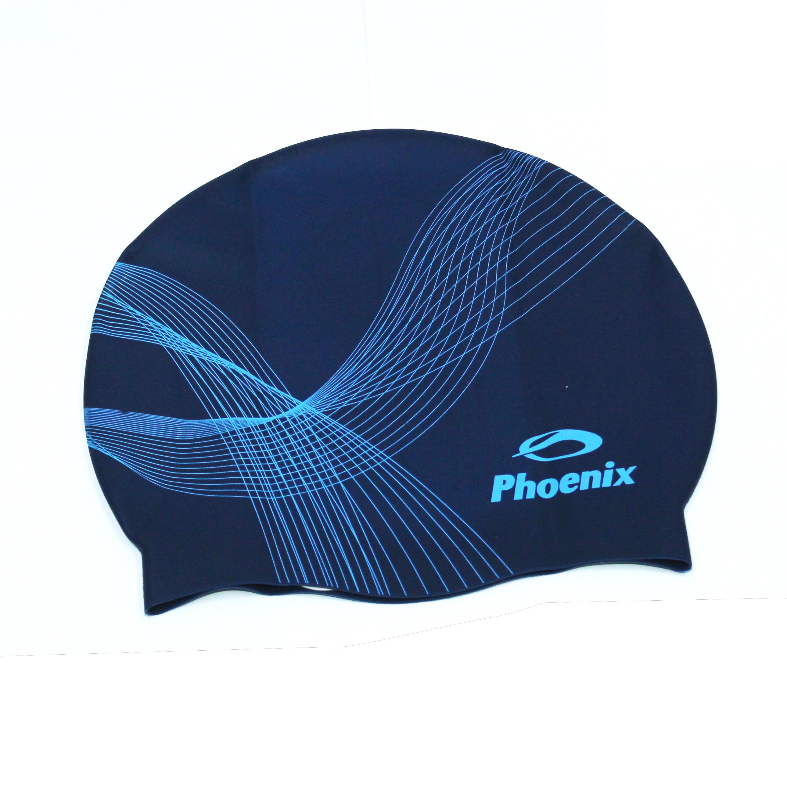 Nón bơi Phoenix Chính Hãng Xanh Đen Đường Cong NP40
