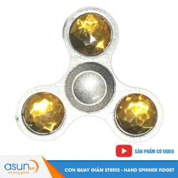 Con Quay Giảm Stress 3 Cánh Kim Loại Hand Spinner Chấm Vàng- Fidget Spinner