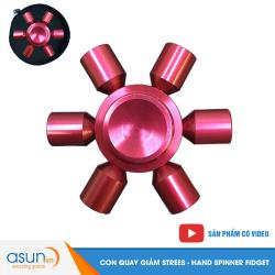 Con Quay Giảm Stress Spaceship 6 Cánh Đỏ Hand Spinner - Fidget Spinner