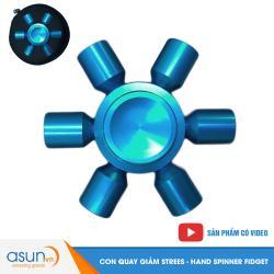 Con Quay Giảm Stress Spaceship 6 Cánh Xanh Dương Hand Spinner - Fidget Spinner
