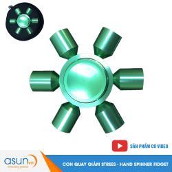 Con Quay Giảm Stress Spaceship 6 Cánh Xanh Lá Hand Spinner - Fidget Spinner