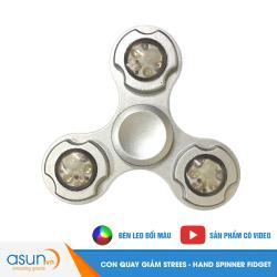 Con Quay Giảm Stress Đèn Led Blue 3 Cánh Hand Spinner - Fidget Spinner