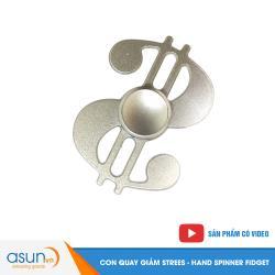 Con Quay Giảm Stress Dollar Hand Spinner Bạc- Fidget Spinner
