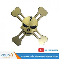 Con Quay Giảm Stress Steering Nhôm Skull Hand Spinner Vàng - Fidget Spinner Hot 2017