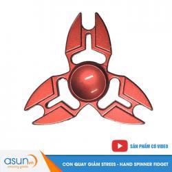 Con Quay Giảm Stress 3 Cánh Kim Loại Đỏ Hand Spinner - Fidget Spinner