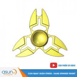 Con Quay Giảm Stress 3 Cánh Kim Loại Vàng Hand Spinner - Fidget Spinner