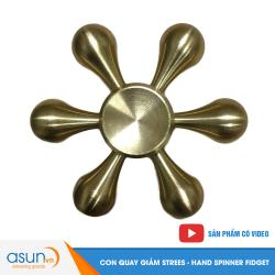Con Quay Giảm Stress Trickle 6 Bằng Đồng Cánh Hand Spinner - Fidget Spinner