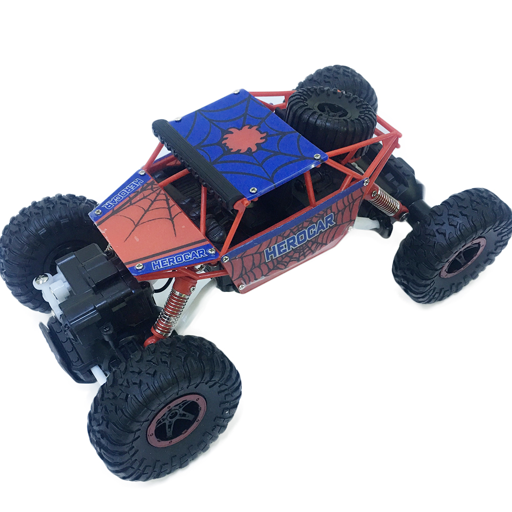 Xe Địa Hình Rock Crawler Người Nhện P1804 4WD Rally Car Tỉ Lệ 1-18