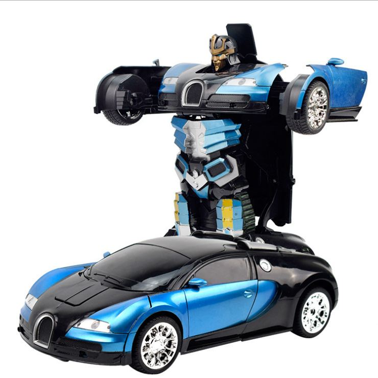 Xe Điều Khiển Robot Cảm Ứng Biến Hình Bugatti 6666