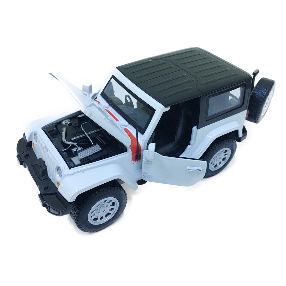 Xe Mô Hình Jeep Chạy Dây Cót Bằng Sắt 32334 Đóng Mở Cửa Có Đèn Nhạc