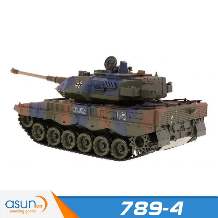 Xe Tank Điều Khiển Từ Xa Bắn Đạn và Có Khói 2.4Ghz Leopard 2 Mã 789-4