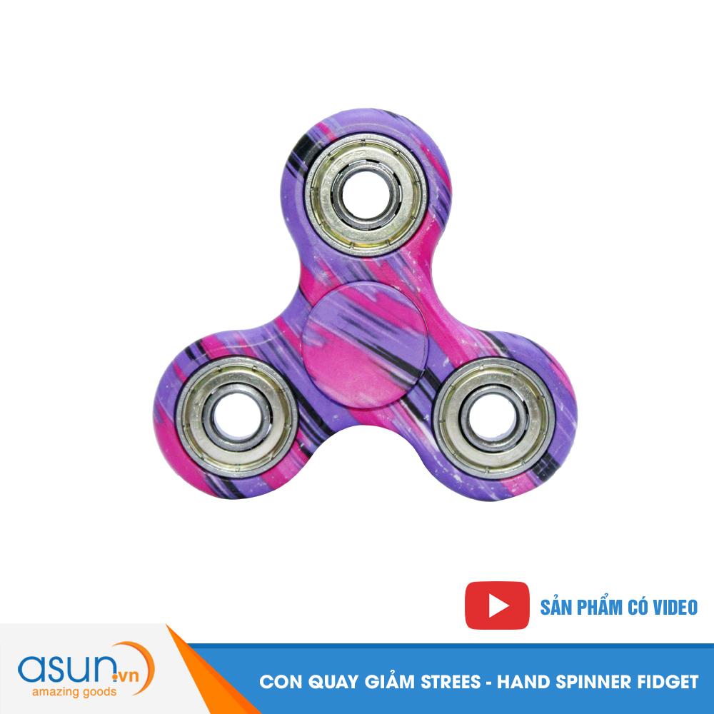 Con Quay Giảm Stress Rằn Ri Tím Hand Spinner - Fidget Spinner Hot 2017