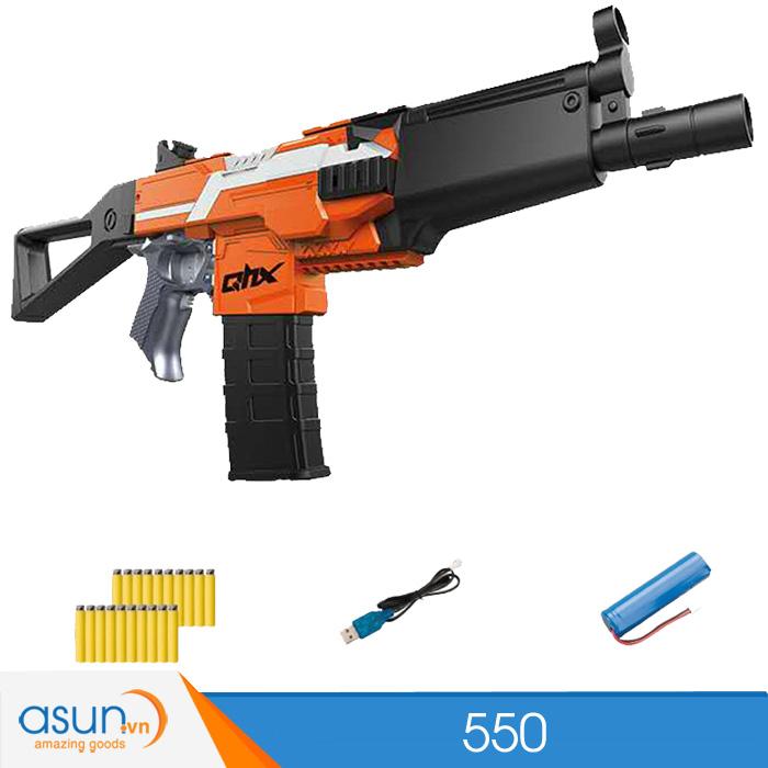 Súng Bắn Đạn Xốp Soft Gun 550 MP5 Cam