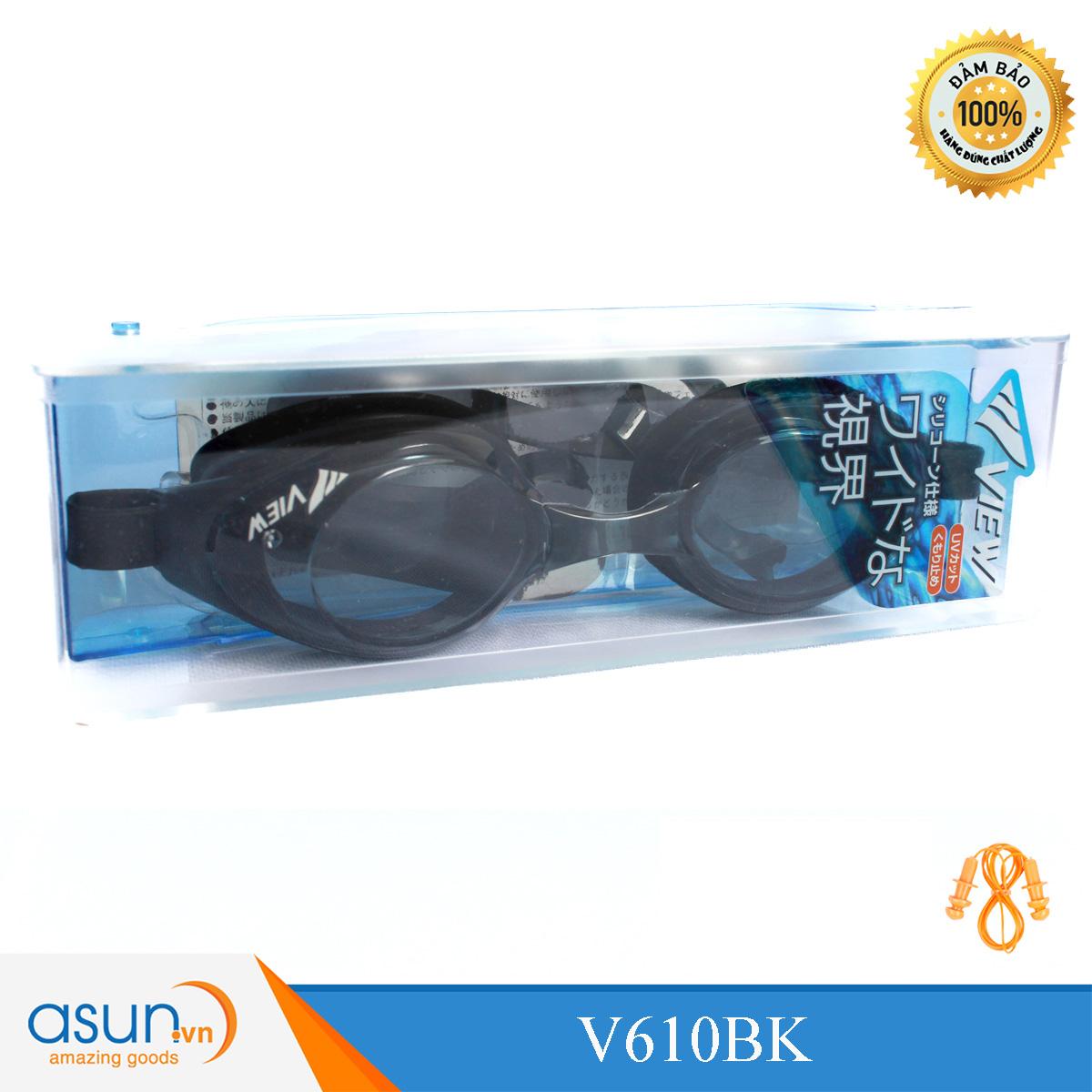 Kính Bơi Chính Hãng hàng nhật View Shinari Màu xanh  Đen V610BK