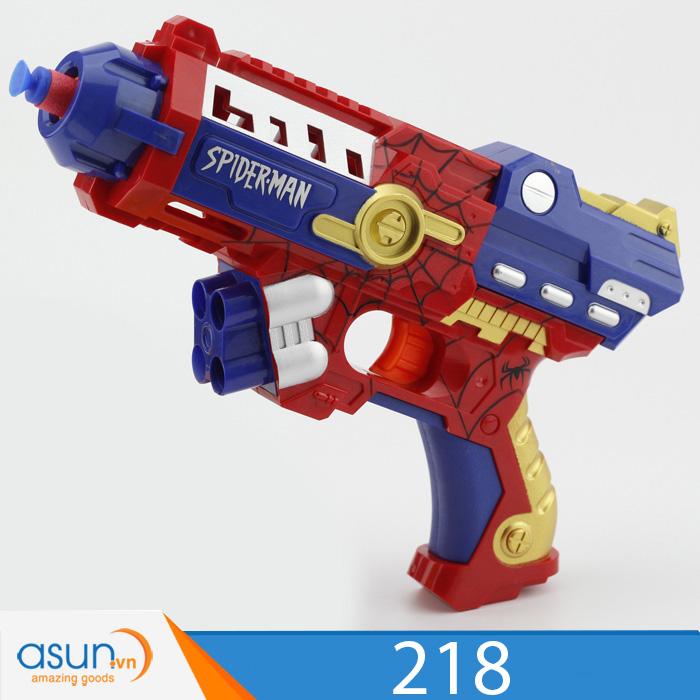 Súng Bắn Đạn Xốp Soft Gun Spider Man 218