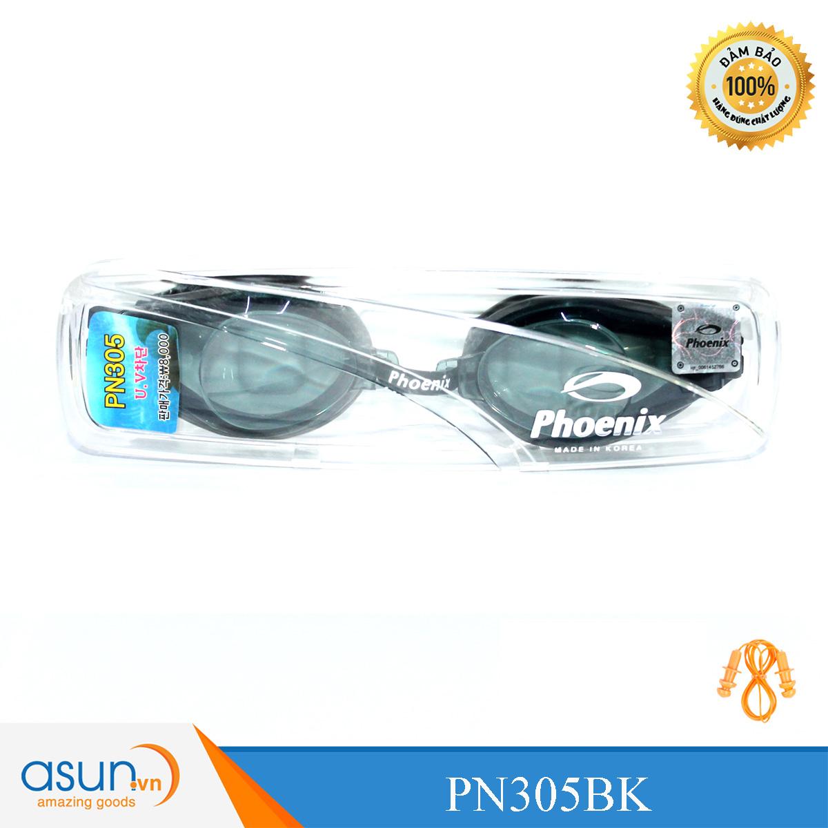 Kính bơi Phoenix chuyên nghiệp màu đen PN305BK