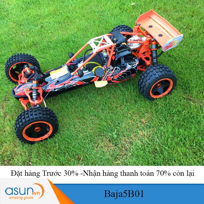 Combo Xe Xăng A92-A95 Điều Khiển BAJA5B01 32cc Tỉ lệ 1-5 - Nâng cấp tay cầm GT3B Free -TT