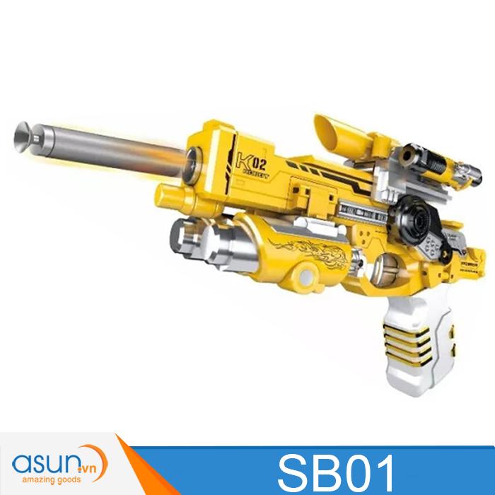 Robot biến hình Súng Bắn Đạn Xốp 2in1 Soft Bullet Gun SB01