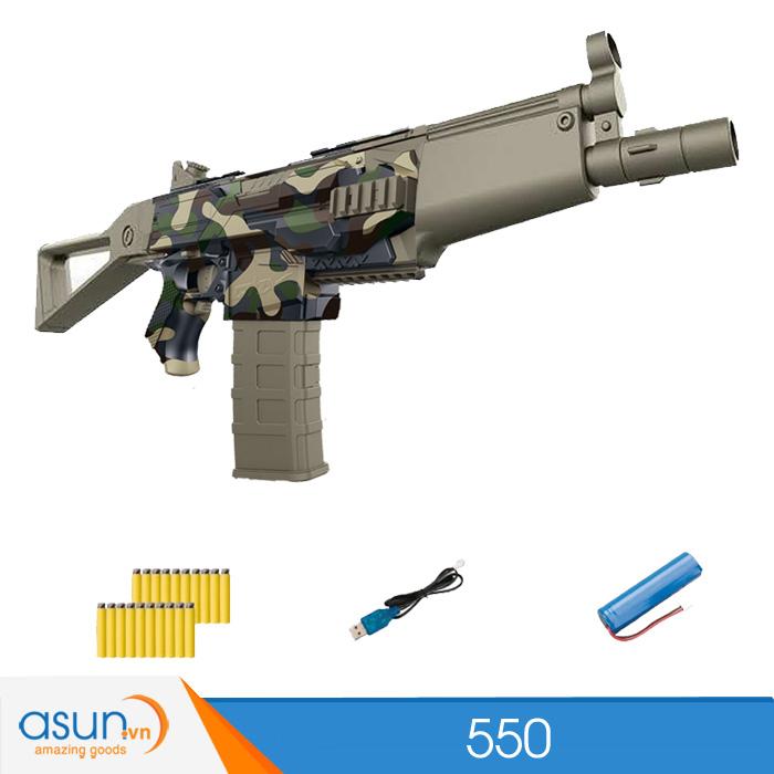 Súng Bắn Đạn Xốp Soft Gun 550 rằn ri MP5