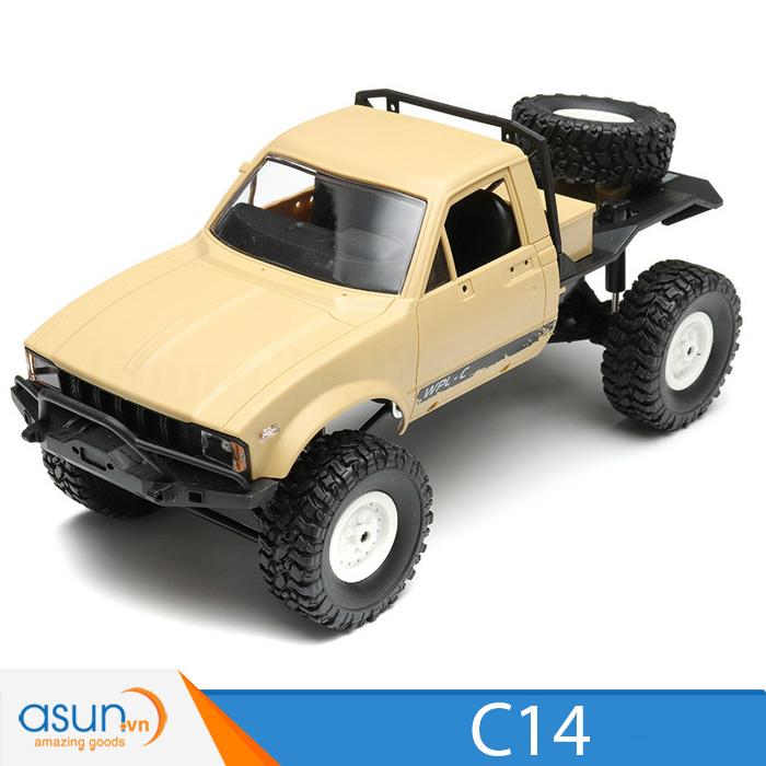 Xe Tải Quân Sự Mỹ Điều Khiển Từ Xa Military WPL C14 4WD 1:16-Màu Vàng quân sư