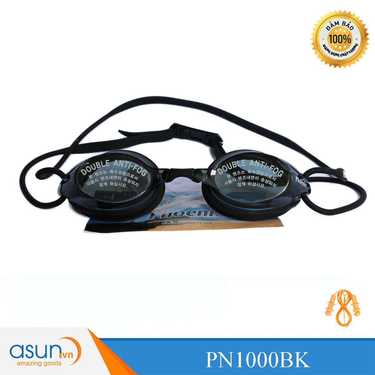 Kính bơi Phoenix Hàn Quốc chuyên nghiệp PN1000 màu đenP1000BK