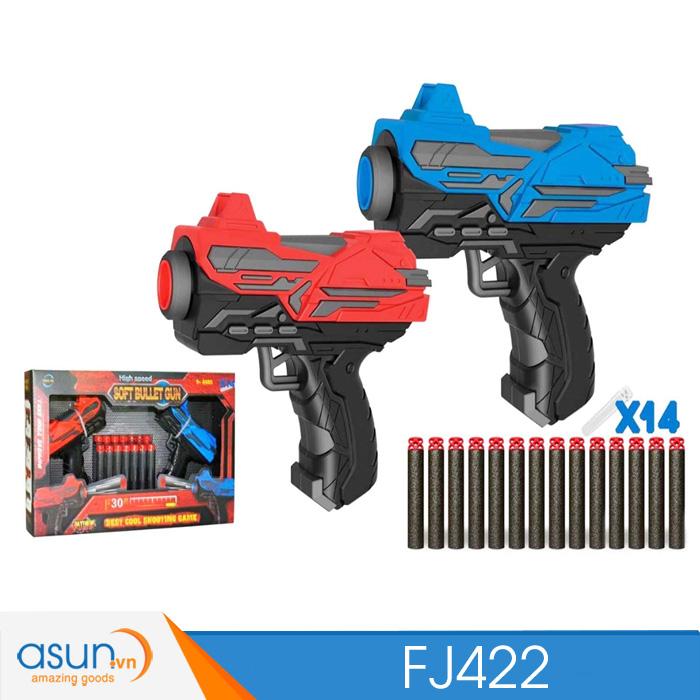 Súng Bắn Đạn Xốp Soft Bullet Gun FJ422TẶNG 1 EMOTION NGẪU NHIÊN