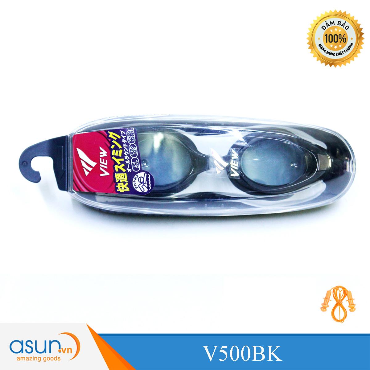 Kính bơi Chuyên Nghiệp Cao Cấp Chính Hãng Nhật Bản View Shinari V500 màu đen V500BK