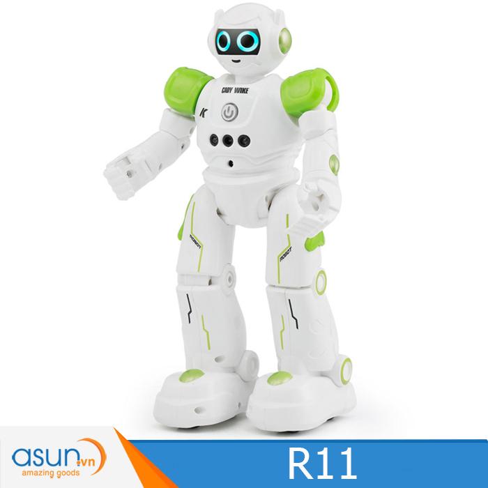 JJRC R11 RC Robot USB Sạc Nhảy Múa Cảm Biến Cử Chỉ Hát Chương Trình Thông Minh Xanh Lá