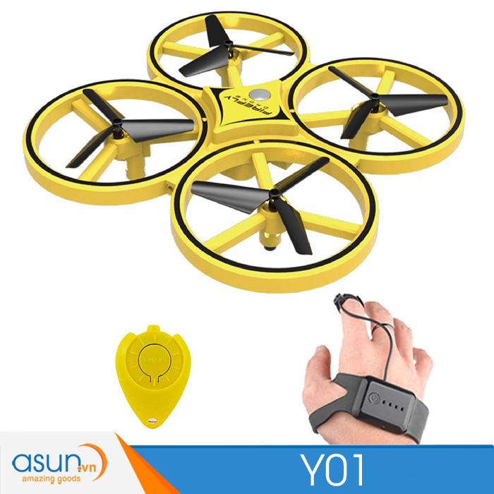 Máy Bay Drone Y01 Điều khiển cảm biếnY01Quadvà theo cử chỉ tay gía rẻ ZF04