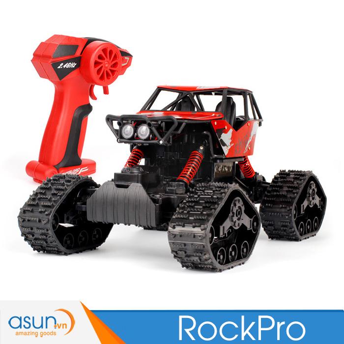 Xe Điều Khiển Địa Hình Rock Crawler Rock Pro 4WD Đỏ 2in1 1:12