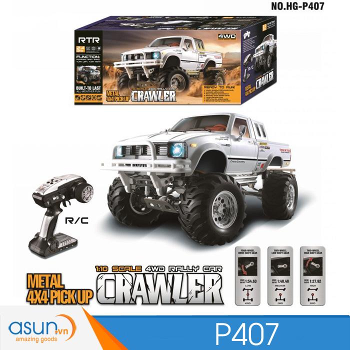 HG 1//10 RC Pickup 4*4 Rally Car Series Car Racing Crawler 2.4G RTR Model Battery