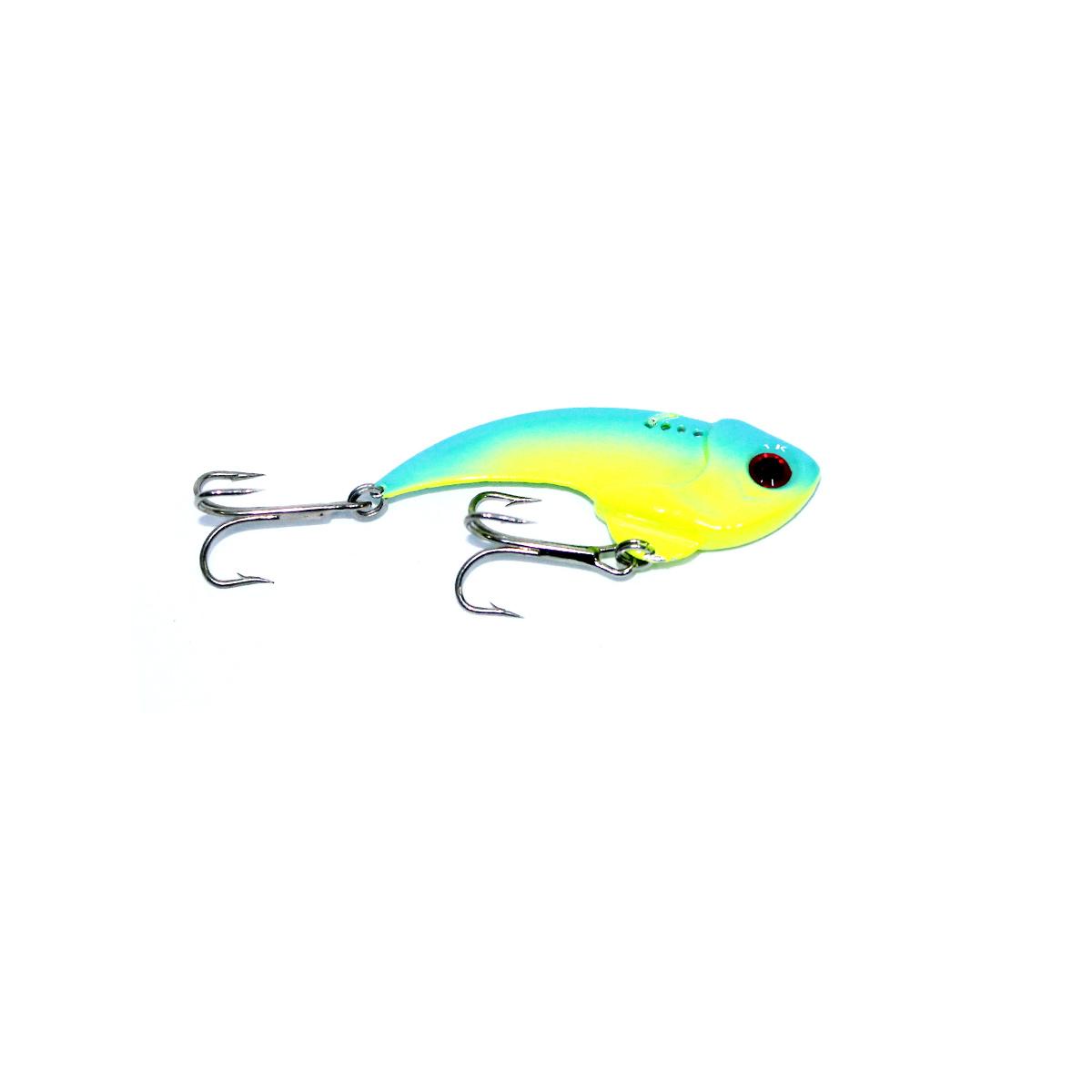 Mồi Câu Cá Giả - Mồi Thìa Lure Lóc Blue Yellow