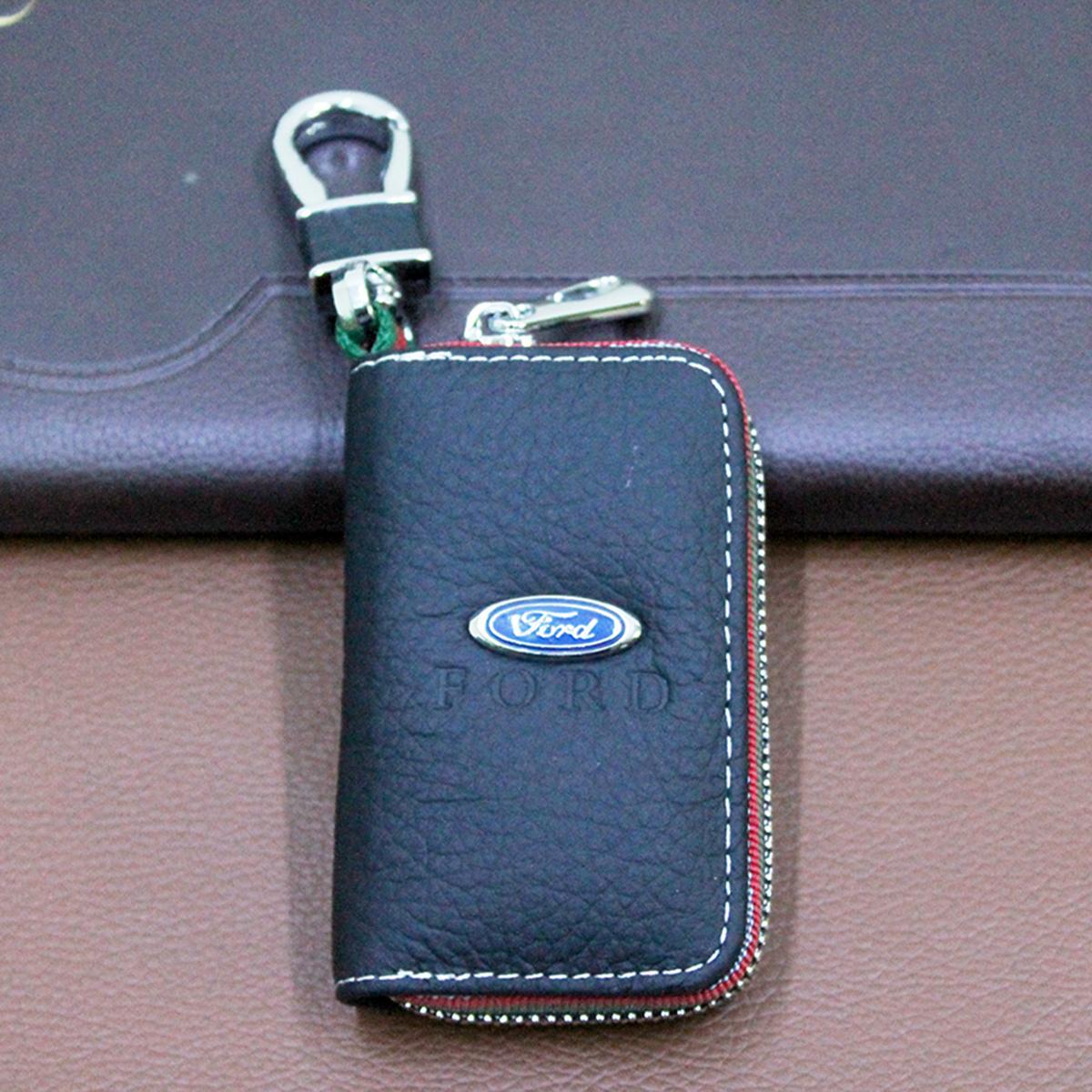 Bao da chìa khóa chất liệu cao cấp logo thương hiệu Ford cho xe hơi