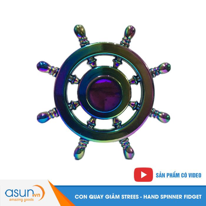 Con Quay Giảm Stress Bánh Lái Rainbow Hand Spinner - Fidget Spinner Hot 2017