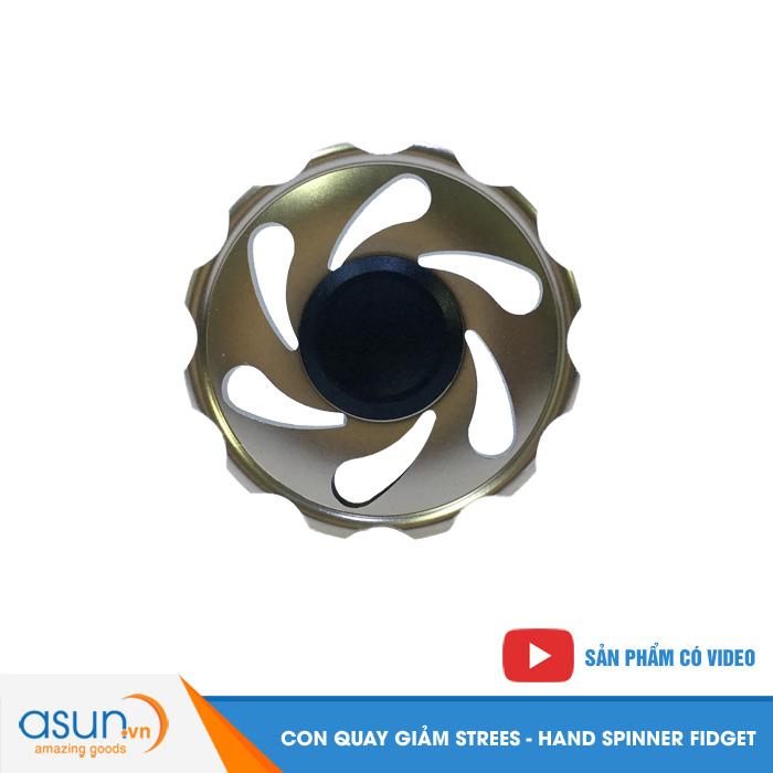 Con Quay Giảm Stress Gear Nhôm Hand Spinner Vàng Đồng - Fidget SPinner
